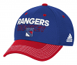 New York Rangers Adidas NHL Authentic Locker Room Structured Flex Hat