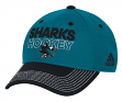San Jose Sharks Adidas NHL Authentic Locker Room Structured Flex Hat