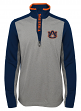 "Auburn Tigers NCAA ""Top Notch"" Men's 1/4 Zip Mock Neck Jacket"