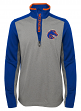 "Boise State Broncos NCAA ""Top Notch"" Men's 1/4 Zip Mock Neck Jacket"