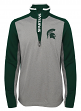 "Michigan State Spartans NCAA ""Top Notch"" Men's 1/4 Zip Mock Neck Jacket"