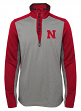 "Nebraska Cornhuskers NCAA ""Top Notch"" Men's 1/4 Zip Mock Neck Jacket"