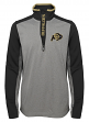 "Colorado Buffaloes NCAA ""Top Notch"" Men's 1/4 Zip Mock Neck Jacket"