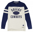 "Dallas Cowboys Mitchell & Ness NFL ""Swing Pass"" Men's Heavyweight L/S Shirt"