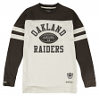 "Oakland Raiders Mitchell & Ness NFL ""Swing Pass"" Men's Heavyweight L/S Shirt"