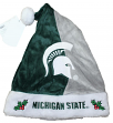 Michigan State Spartans 2017 NCAA Basic Logo Plush Christmas Santa Hat