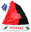 Nebraska Cornhuskers 2017 NCAA Basic Logo Plush Christmas Santa Hat