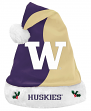 Washington Huskies 2017 NCAA Basic Logo Plush Christmas Santa Hat