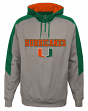 "Miami Hurricanes NCAA ""Illustrious"" Men's 1/4 Zip Pullover Hooded Jacket"