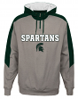 "Michigan State Spartans NCAA ""Illustrious"" Men's 1/4 Zip Pullover Hooded Jacket"
