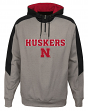"Nebraska Cornhuskers NCAA ""Illustrious"" Men's 1/4 Zip Pullover Hooded Jacket"