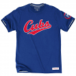 "Chicago Cubs MLB Mitchell & Ness ""Wordmark"" Premium Men's T-Shirt"