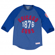 "Chicago Cubs MLB Mitchell & Ness ""Beginnings"" Men's Premium 3/4 Sleeve Shirt"
