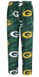 "Green Bay Packers NFL ""End Zone"" Men's Micro Fleece Pajama Pants"