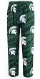 "Michigan State Spartans NCAA ""End Zone"" Men's Micro Fleece Pajama Pants"