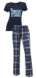 "Tennessee Titans NFL ""Game Day"" Women's T-shirt & Flannel Pajama Sleep Set"