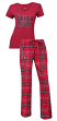 "Arizona Cardinals NFL ""Game Day"" Women's T-shirt & Flannel Pajama Sleep Set"