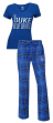 "Duke Blue Devils NCAA ""Game Day"" Women's T-shirt & Flannel Pajama Sleep Set"