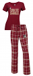 Florida State Seminoles NCAA Game Day Women's T-shirt & Flannel Pajama Sleep Set