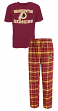 "Washington Redskins NFL ""Game Time"" Men's T-shirt & Flannel Pajama Sleep Set"