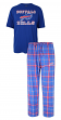 "Buffalo Bills NFL ""Game Time"" Men's T-shirt & Flannel Pajama Sleep Set"