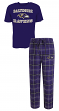 "Baltimore Ravens NFL ""Game Time"" Men's T-shirt & Flannel Pajama Sleep Set"