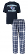 """Tennessee Titans NFL """"Game Time"""" Men's T-shirt & Flannel Pajama Sleep Set"""