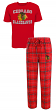 "Chicago Blackhawks NHL ""Game Time"" Men's T-shirt & Flannel Pajama Sleep Set"