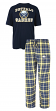 "Buffalo Sabres NHL ""Game Time"" Men's T-shirt & Flannel Pajama Sleep Set"