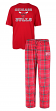 "Chicago Bulls NBA ""Game Time"" Men's T-shirt & Flannel Pajama Sleep Set"