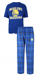 "Golden State Warriors NBA ""Game Time"" Men's T-shirt & Flannel Pajama Sleep Set"