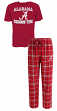 "Alabama Crimson Tide NCAA ""Game Time"" Men's T-shirt & Flannel Pajama Sleep Set"
