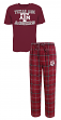 "Texas A&M Aggies NCAA ""Game Time"" Men's T-shirt & Flannel Pajama Sleep Set"