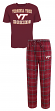 "Virginia Tech Hokies NCAA ""Game Time"" Men's T-shirt & Flannel Pajama Sleep Set"