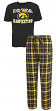 "Iowa Hawkeyes NCAA ""Game Time"" Men's T-shirt & Flannel Pajama Sleep Set"