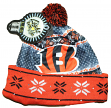 "Cincinnati Bengals NFL ""Ugly"" LED Light Up Cuffed Knit Hat with Pom"