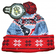 "Houston Texans NFL ""Ugly"" LED Light Up Cuffed Knit Hat with Pom"