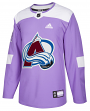 Colorado Avalanche Adidas Hockey Fights Cancer Men's Authentic Practice Jersey