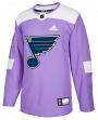 St. Louis Blues Adidas NHL Hockey Fights Cancer Men's Authentic Practice Jersey