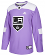 Los Angeles Kings Adidas NHL Hockey Fights Cancer Mens Authentic Practice Jersey