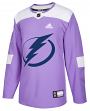Tampa Bay Lightning Adidas Hockey Fights Cancer Men's Authentic Practice Jersey