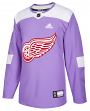 Detroit Red Wings Adidas NHL Hockey Fights Cancer Mens Authentic Practice Jersey