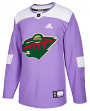 Minnesota Wild Adidas NHL Hockey Fights Cancer Men's Authentic Practice Jersey