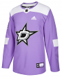 Dallas Stars Adidas NHL Hockey Fights Cancer Men's Authentic Practice Jersey