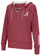 "Alabama Crimson Tide Women's NCAA ""Rhymes"" Lace Up Pullover Hooded Sweatshirt"