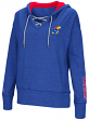 "Kansas Jayhawks Women's NCAA ""Rhymes"" Lace Up Pullover Hooded Sweatshirt"