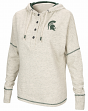 """Michigan State Spartans Women's NCAA """"Miracle Max"""" Hooded Henley Sweatshirt"""