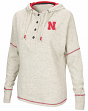 "Nebraska Cornhuskers Women's NCAA ""Miracle Max"" Hooded Henley Sweatshirt"