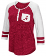 "Alabama Crimson Tide NCAA Women's ""Inconceivable"" 3/4 Sleeve Henley Shirt"