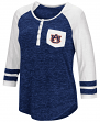 "Auburn Tigers NCAA Women's ""Inconceivable"" 3/4 Sleeve Henley Shirt"